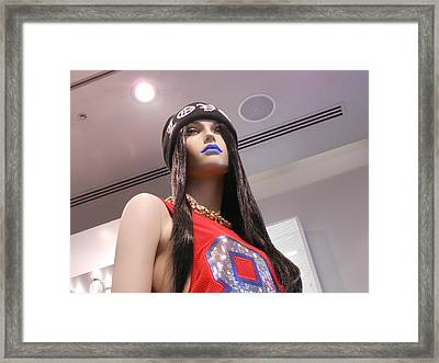 Blue Lips Framed Print by Kay Gilley