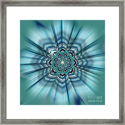 Blue Lotus Mandala Framed Print