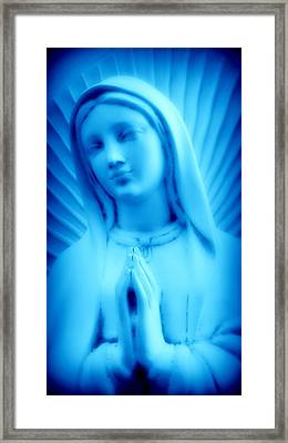Framed Print featuring the photograph Blue Madonna by Aurelio Zucco