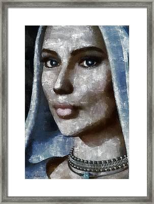 Blue Madonna Framed Print by Tyler Robbins