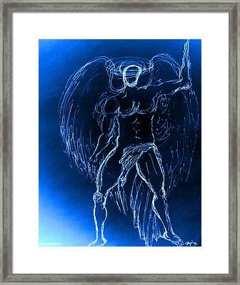 Blue Male Angel Framed Print