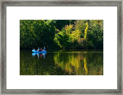 Blue Man Group Framed Print by Peter Olsen