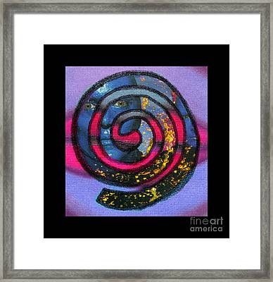 Blue Man Group Spiral Framed Print
