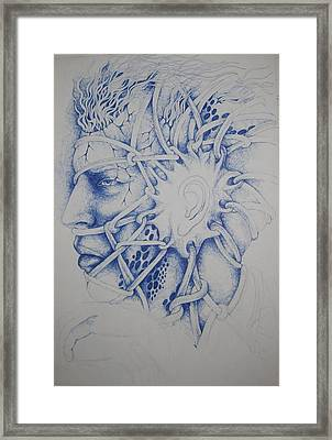 Blue Man Framed Print by Moshfegh Rakhsha