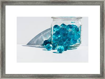 Framed Print featuring the photograph Blue Marbles by Mary Hone