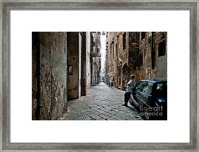 Blue Framed Print by Marion Galt