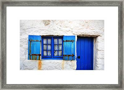 Blue Framed Print by Mark Rogan