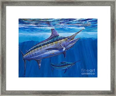 Blue Marlin Bite Off001 Framed Print