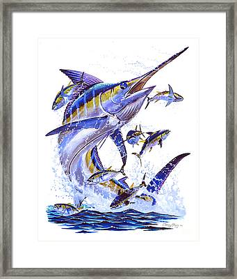 Blue Marlin Framed Print by Carey Chen