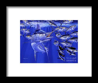 Marlin Azul Framed Prints