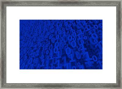 Blue Matrix Framed Print by Vitaliy Gladkiy