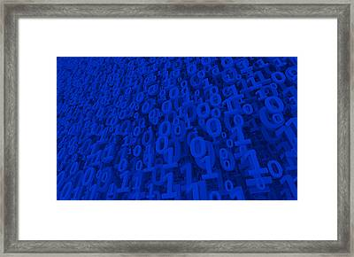Blue Matrix Framed Print