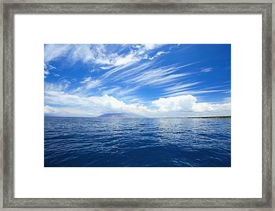 Blue Maui Seascape Framed Print