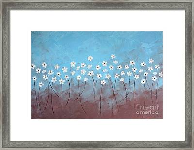 Blue Meadow Framed Print by Home Art