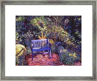 Blue Meeting Chair Framed Print