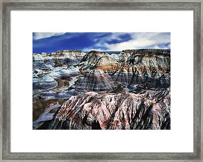 Blue Mesa - Painted Desert Framed Print by Bob and Nadine Johnston