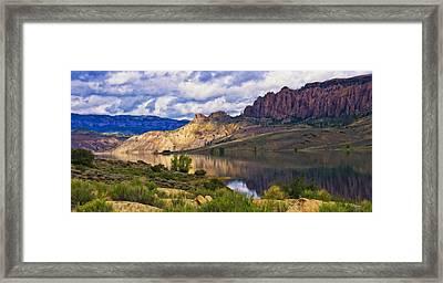 Blue Mesa Reservoir Digital Painting Framed Print by Priscilla Burgers