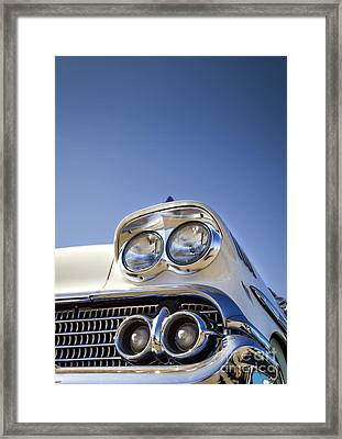 Blue- Metal And Speed Framed Print by Holly Martin