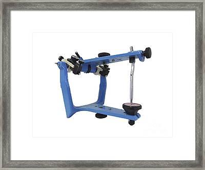 Blue Metallic Articulator Used Framed Print by Elena Duvernay