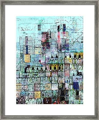 Blue Metropolis Framed Print by Andy  Mercer