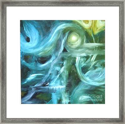 Blue Framed Print by Michelle Dommer