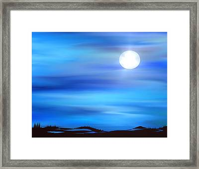 Super Moon Framed Print