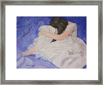 Blue Framed Print by Mike Paget