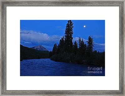 Blue Missing You Framed Print