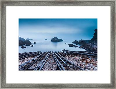 Blue Mist Hour Framed Print by Evgeni Dinev