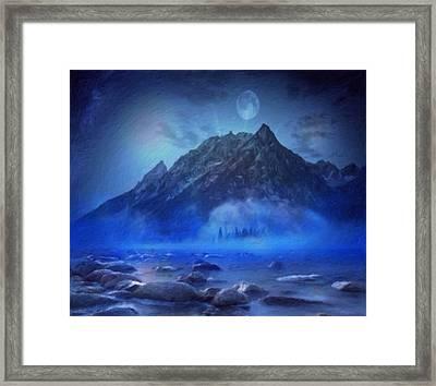 Blue Mist Rising Framed Print