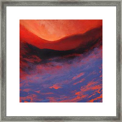 Blue Mist Rising Framed Print by Neil McBride
