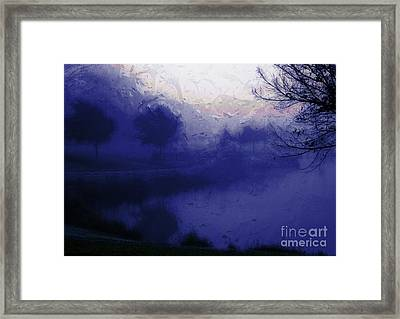Framed Print featuring the photograph Blue Misty Reflection by Julie Lueders