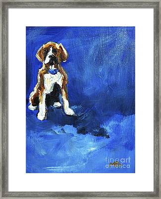 Blue Monday Framed Print by Maria's Watercolor