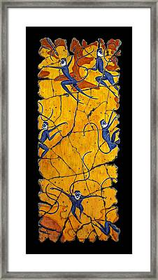 Blue Monkeys No. 41 Framed Print by Steve Bogdanoff
