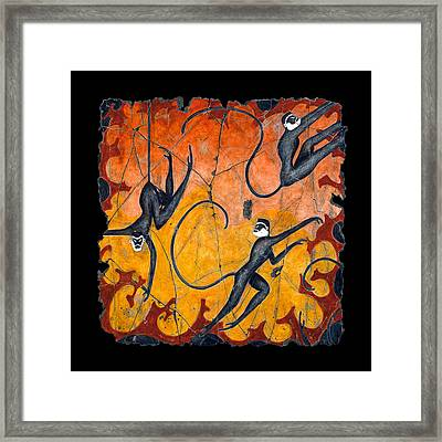 Blue Monkeys No. 9 Framed Print by Steve Bogdanoff
