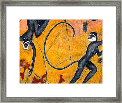 Blue Monkeys No. 9 - Study No. 1 Framed Print by Steve Bogdanoff