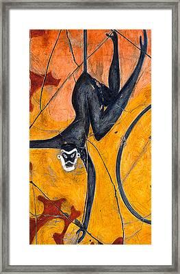 Blue Monkeys No. 9 - Study No. 3 Framed Print