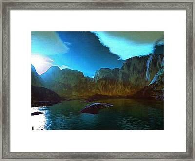 Blue Montain Majesty Framed Print by Mario Carini