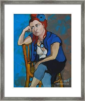 Blue Mood Framed Print by Mona Edulesco