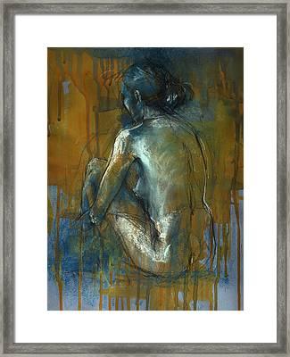 Blue Mood Framed Print by Lucy Morar