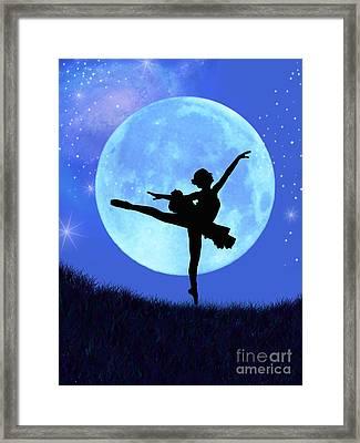 Blue Moon Ballerina Framed Print by Alixandra Mullins