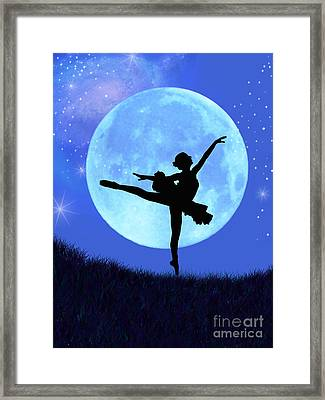 Blue Moon Ballerina Framed Print