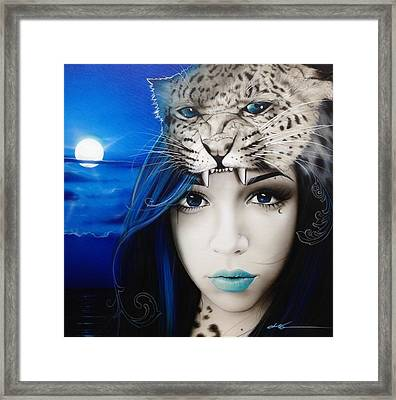 Portrait - ' Blue Moon ' Framed Print