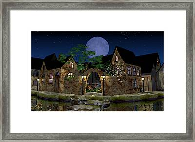 Blue Moon Framed Print by Cynthia Decker