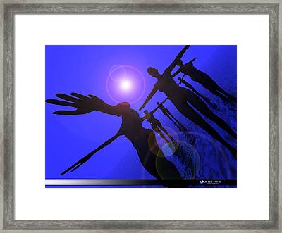 Blue Moon Dancers Framed Print