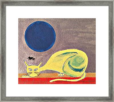 Blue Moon Framed Print by Lew Griffin