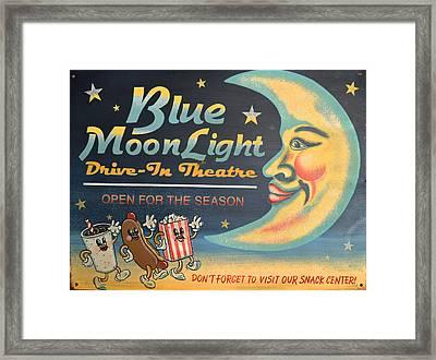 Blue Moon Light Framed Print by Sherry Dooley