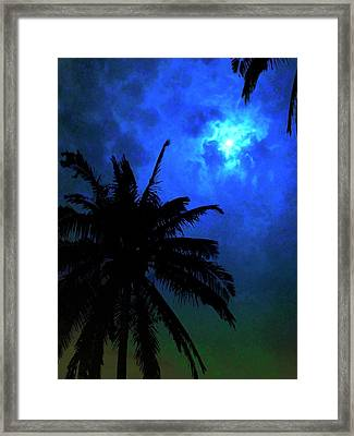 Blue Moon Framed Print by Mark Garlick/science Photo Library