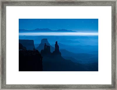 Blue Moon Mesa Framed Print by Dustin  LeFevre