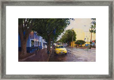 Blue Moon On A Rainy Day Framed Print